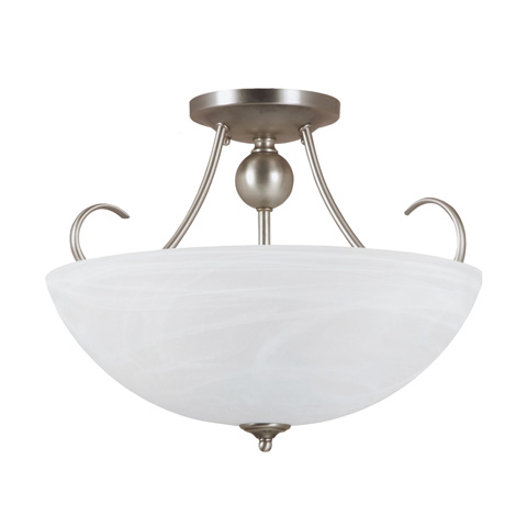 Sea Gull Lighting - Three Light Semi-Flush Convertible Pendant - 77316-965
