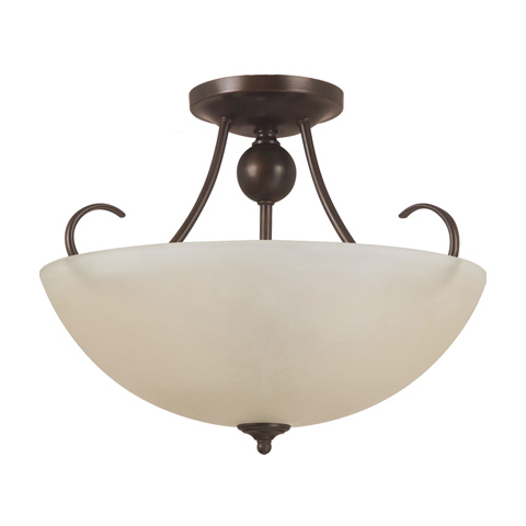 Sea Gull Lighting - Three Light Semi-Flush Convertible Pendant - 77316BLE-710