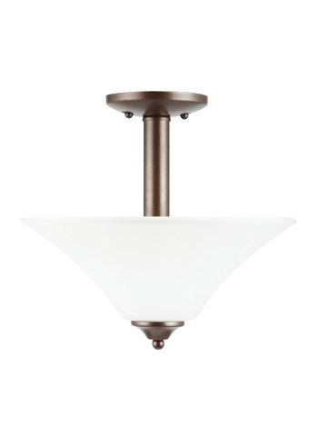 Sea Gull Lighting - Two Light Semi-Flush Convertible Pendant - 77806-827