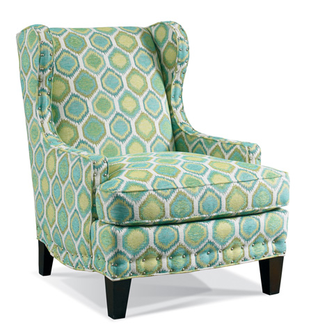 Sherrill Furniture Company - Neutral Wing Chair with Nailhead Trim - DC82