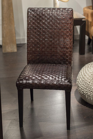 Stone International - Woven Leather Dining Side Chair - 0010/S