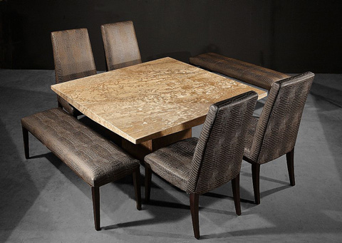 Stone International - Square Dining Table - 3204/SQ