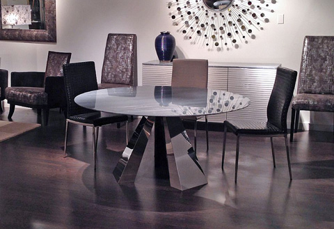 Stone International - Round Dining Table - 9797