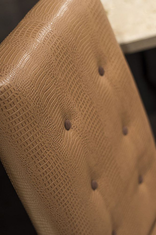 Stone International - Dining Chair with Suede Buttons - 0520/S