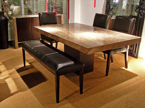Stone International - Leather Bench - 0828/P