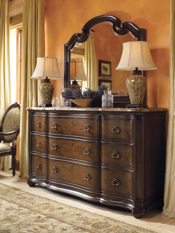 Thomasville Furniture - Lucca Dresser with Marble Top - 43612-136