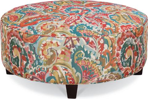 Thomasville Furniture - Brooklyn Round Plain Top Ottoman - 1825-16