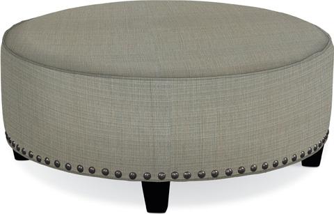 Thomasville Furniture - Brooklyn Round Plain Top Ottoman - 1825-16N2