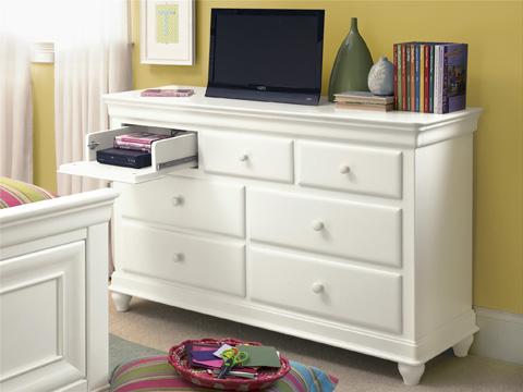 Universal - Smart Stuff - Summer White Seven Drawer Dresser - 131A002