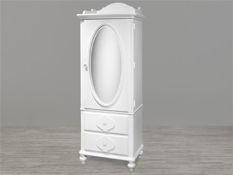 Image of Black and White Armoire