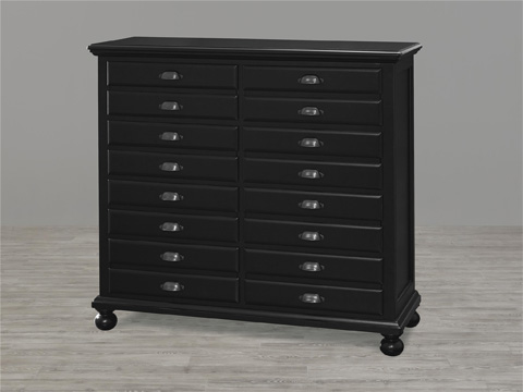 Image of Black and White Map Drawer Chest