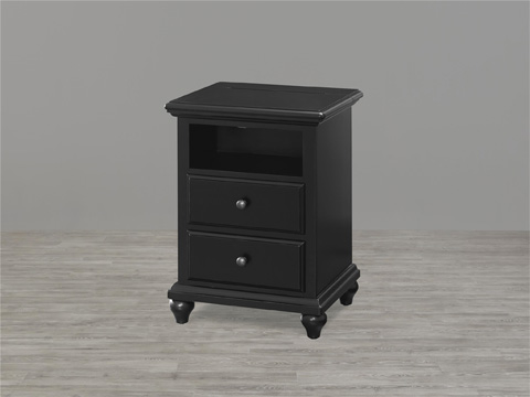 Image of Black and White Nightstand