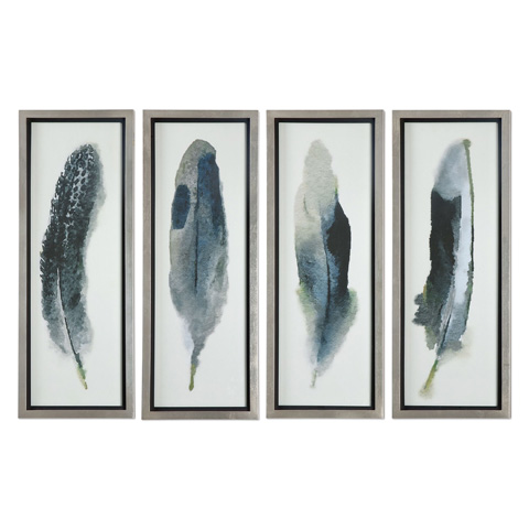 Uttermost Company - Feathered Beauty Art-Set of Four - 41554
