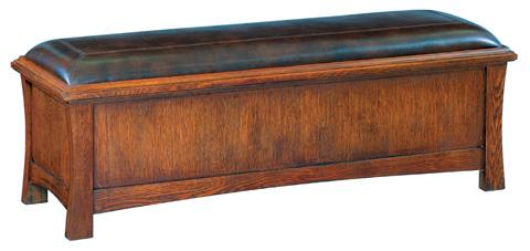 Whittier Wood Furniture - Two Drawer Prairie City Bench - 1212DAO