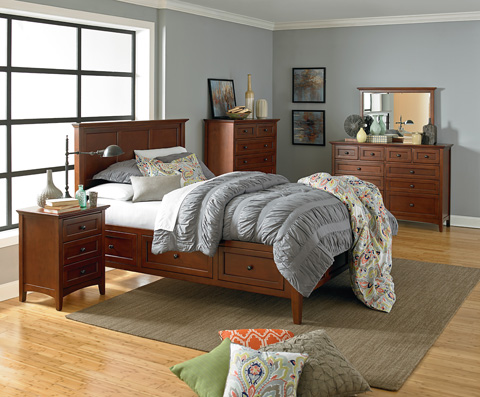 Whittier Wood Furniture - McKenzie Queen Storage Bed - 1316GAC
