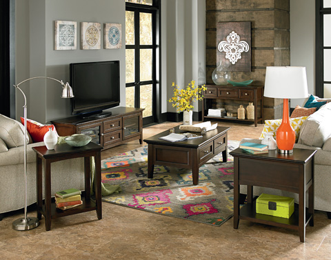 Whittier Wood Furniture - McKenzie Sofa Table - 3503CAF