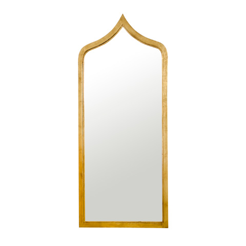 Worlds Away - Morrocan Style Gold Leaf Iron Mirror - ADINA G