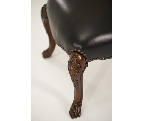 Michael Amini - Shell-Back Side Chair with Leather Seat - 02333-53