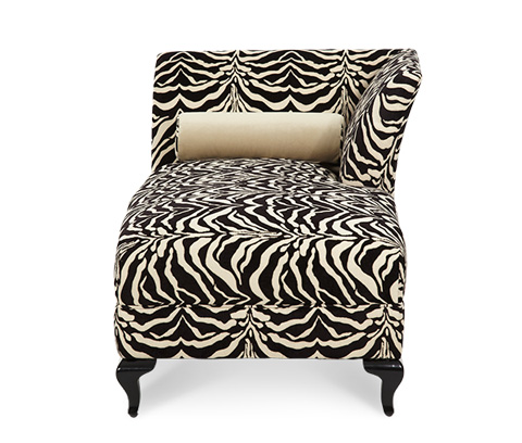 Michael Amini - Left Arm Facing Tiger Chaise Lounge - 19842-TIGER-88