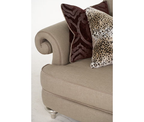 Michael Amini - Sofa with Rolled Arms - 03815-TAUPE-05