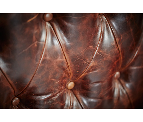 Michael Amini - Leather Tufted Settee - 61964-DPBRN-29