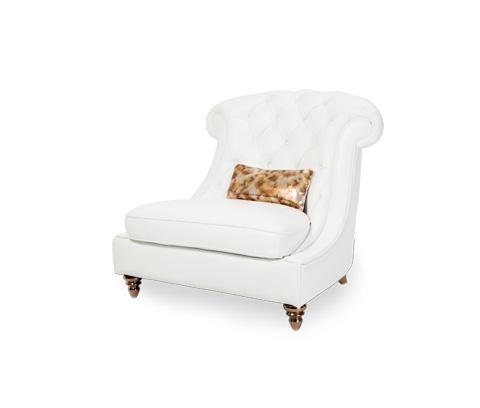 Michael Amini - Damario Tufted Chair and a Half - MB-DMRIO38-WHT-99