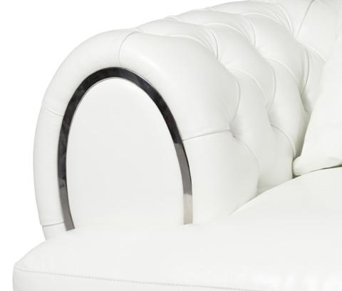 Michael Amini - Ellia Leather Tufted Sofa - MB-ELLIA15-CRM-13