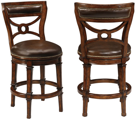 Ambella Home Collection - Delaware Swivel Counter Stool - 16000-520-001