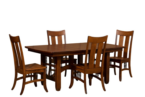 Borkholder Furniture - Arroyo Seco Solid Top Dining Table - 37-8001STX
