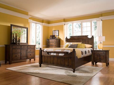 Broyhill Furniture - Attic Heirlooms Dresser Mirror, Rustic Oak - 4399-36