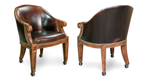 California House - Arm Chair with Casters - C6210