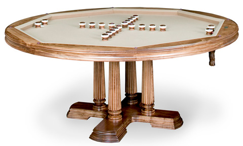 California House - Game Table with Storage - T48-HEX-BRO-GS