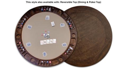 California House - Oval Fixed Top Texas Hold'em Table - T72-OVL-APT-FX