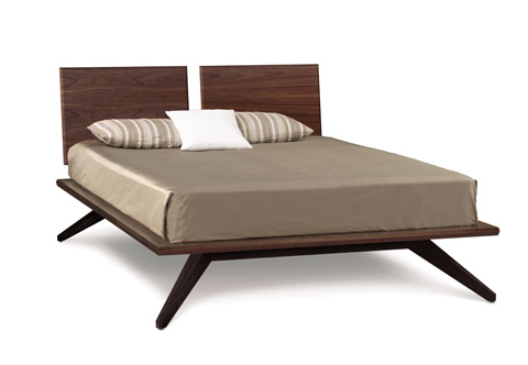 Copeland Furniture - Astrid Bed with Adjustable Panels - Walnut - 1-AST-12-14