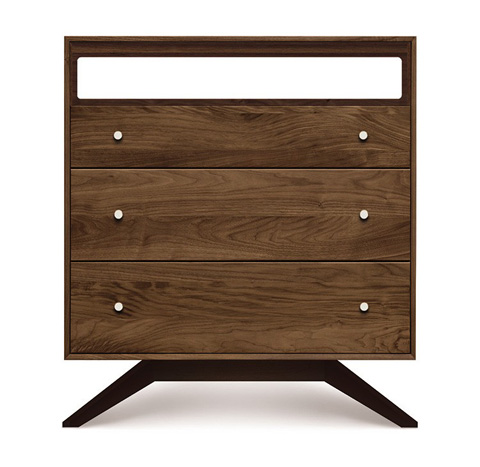 Copeland Furniture - Astrid 3 Drawer TV Organizer - Maple - 2-AST-35