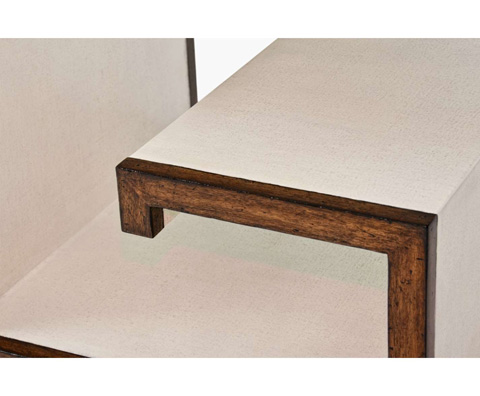 Curate by Artistica Metal Design - Worn Ivory Canvas Green Key Buncher Table - C408-380