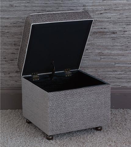 Eastern Accents - Murano Taupe Storage Box Ottoman - OTD-380