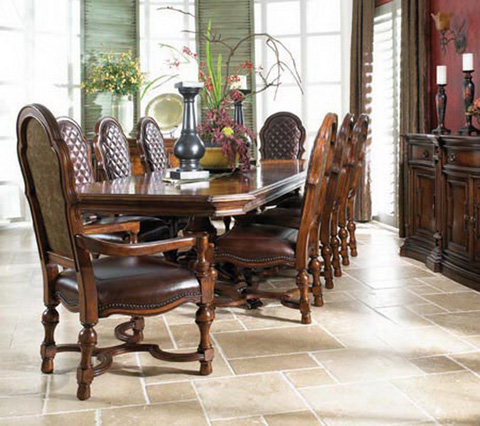 Fine Furniture Design & Marketing - Double Pedestal Dining Table - 810-818/819