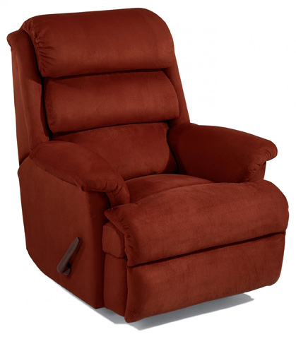 Image of Fabric Swivel Gliding Recliner