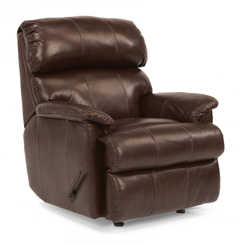 Image of Leather Swivel Gliding Recliner
