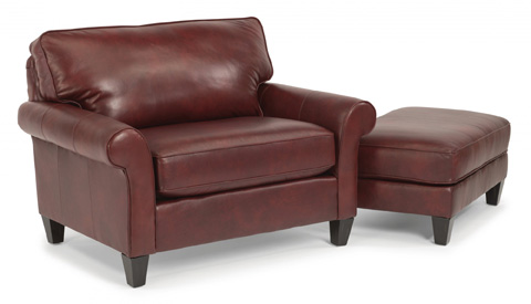 Flexsteel - Leather Chair and a Half - 3979-101