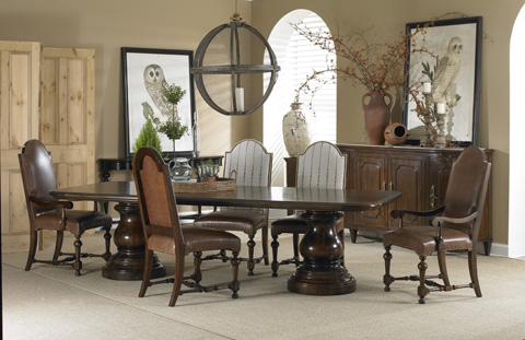 Hickory White - Antonia Pedestal Dining Table - 140-13
