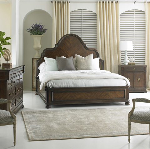 Hickory White - Francesca Panel King Bed - 145-22