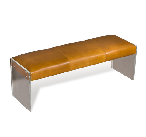 Interlude Home - Aiden Leather Bench - 175088