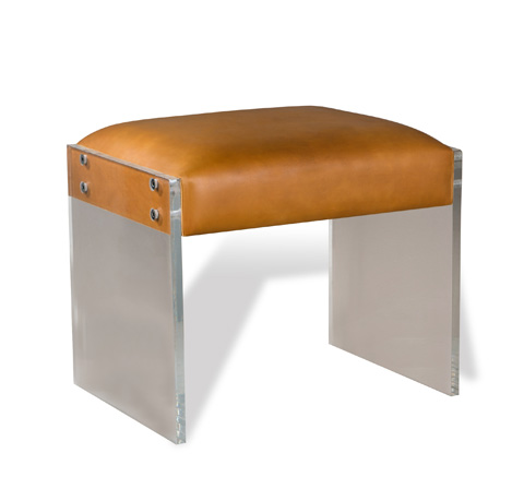 Interlude Home - Aiden Leather Stool - 175090