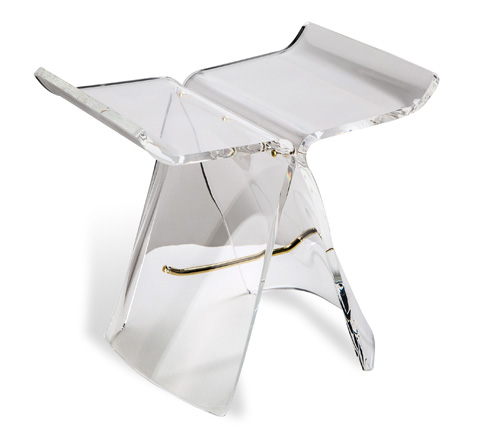 Image of Willa Acrylic Butterfly Stool