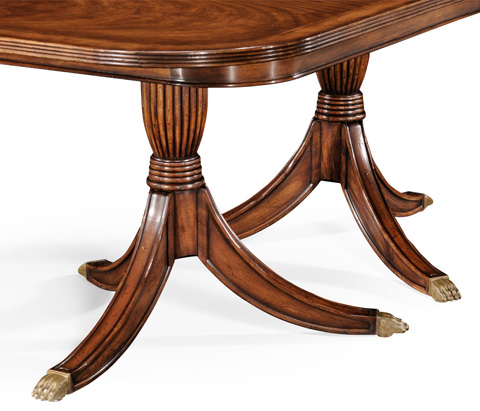 Jonathan Charles - Double Pedestal Walnut Dining Table - 493900