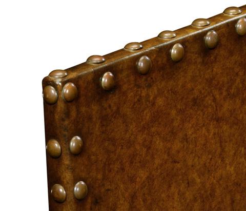 Jonathan Charles - Tudor Style Leather Side Chair - 492166