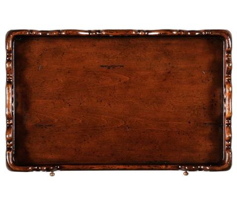 Jonathan Charles - Mahogany Bedside Cabinet with Handles - 492229