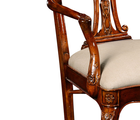 Jonathan Charles - Mahogany 18th Century Style Dining Arm Chair - 492474